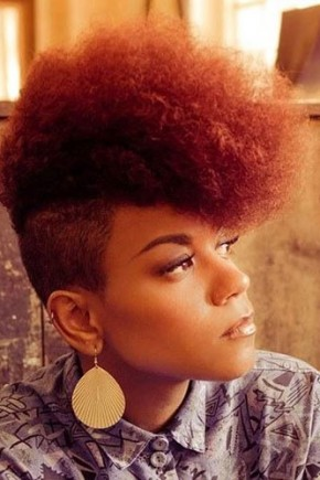 red curly Mohawk hairstyles for black women