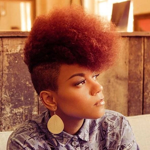 Fantastic Jazzy Mohawk Hairstyles For Black Women Hairstyles 2016 Hair Hairstyles For Men Maxibearus