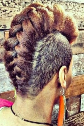 Huge reverse braid mohawk hairstyles for black women