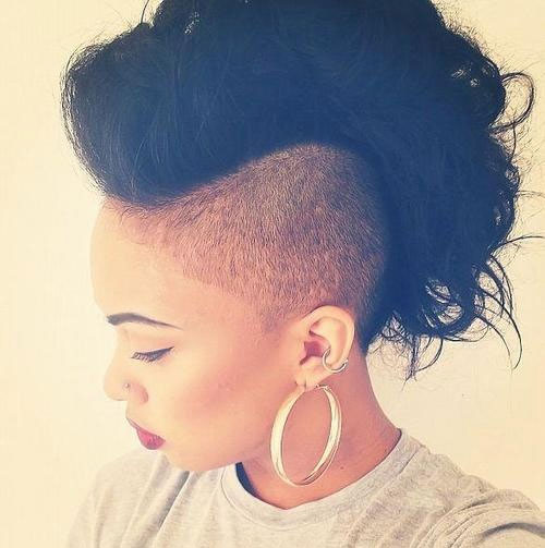 Miraculous Jazzy Mohawk Hairstyles For Black Women Hairstyles 2017 Hair Short Hairstyles For Black Women Fulllsitofus