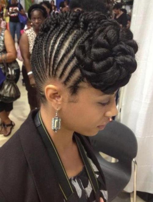 Braided Mohawk Hairstyles 20 latest braided mohawk updo hairstyles Front Braid Mohawk Hairstyles For Black Women