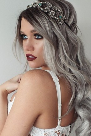 Platinum grey pastel hair colros 2015 Summer