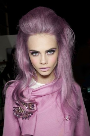 Cara Delevingne pastel hair colros 2015 Summer