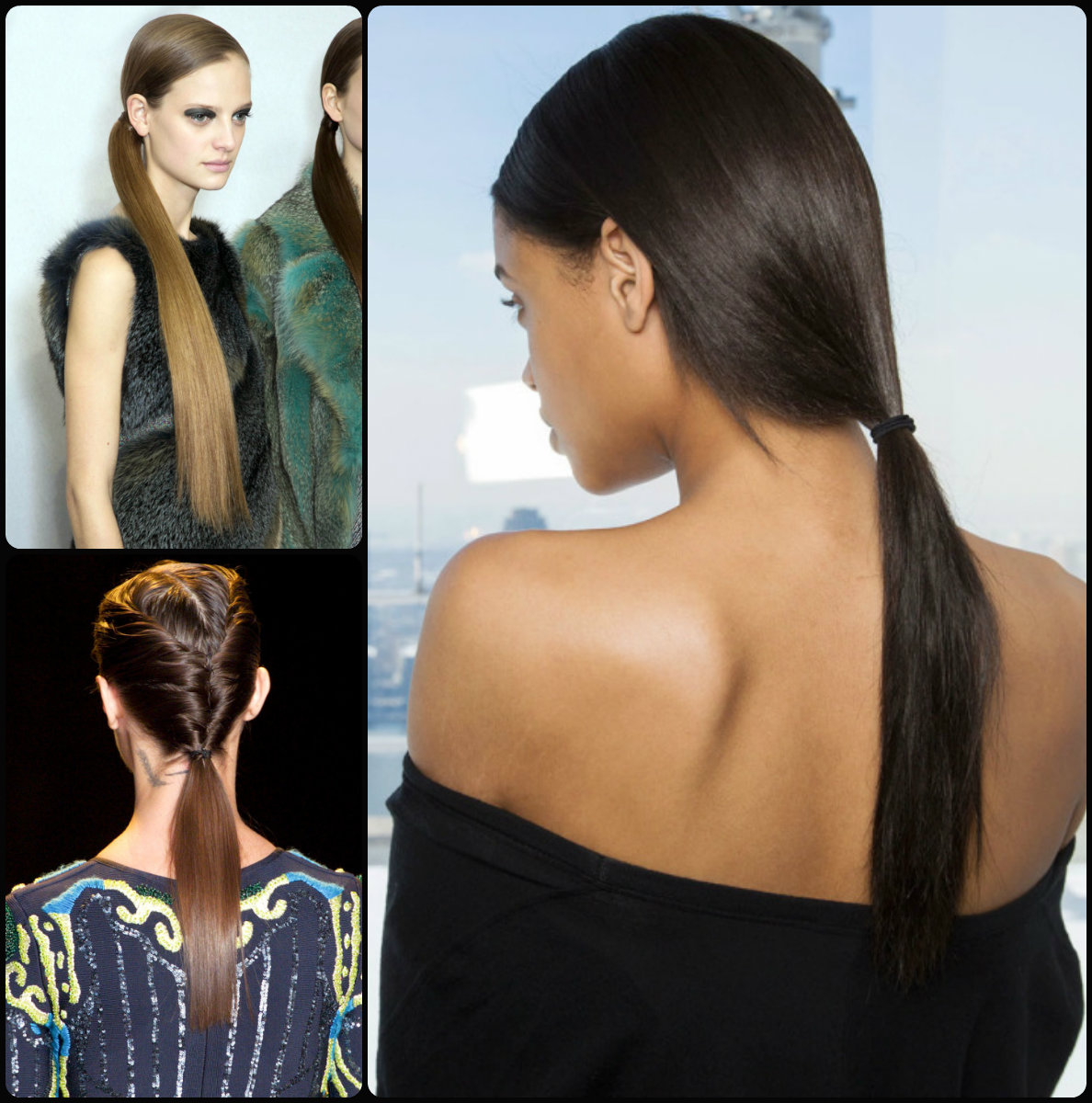 Magnificent Runway Ponytail Hairstyles For Fall 2015 Hairstyles 2017 Hair Hairstyle Inspiration Daily Dogsangcom