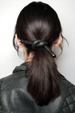 ponytail hairstyles for fall 2015 at Tanya Taylor