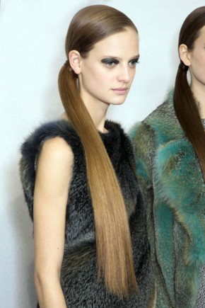 ponytail hairstyles for fall 2015 at Dior