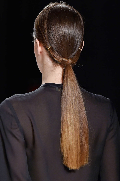 Erin Fetherston ponytail hairstyles for fall 2015