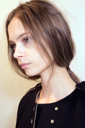 ponytail hairstyles for fall 2015 at Alberta Ferretti
