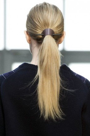 ponytail hairstyles for fall 2015 at Derek Lam
