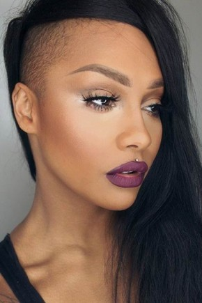 shaved side long hairstyles for women