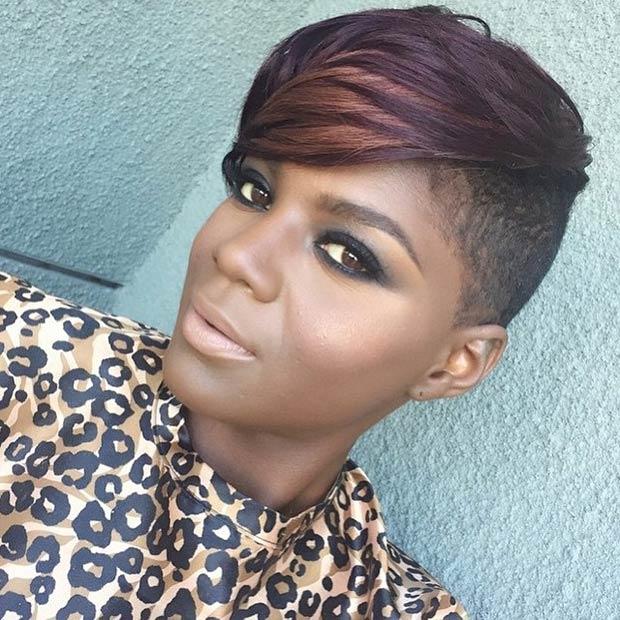 Strange Exceptional Shaved Hairstyles For Women Hairstyles 2016 Hair Short Hairstyles For Black Women Fulllsitofus