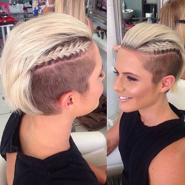 creative shaved hairstyles for women