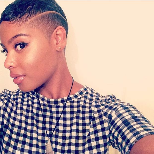 extra short shaved sides hairstyles for women