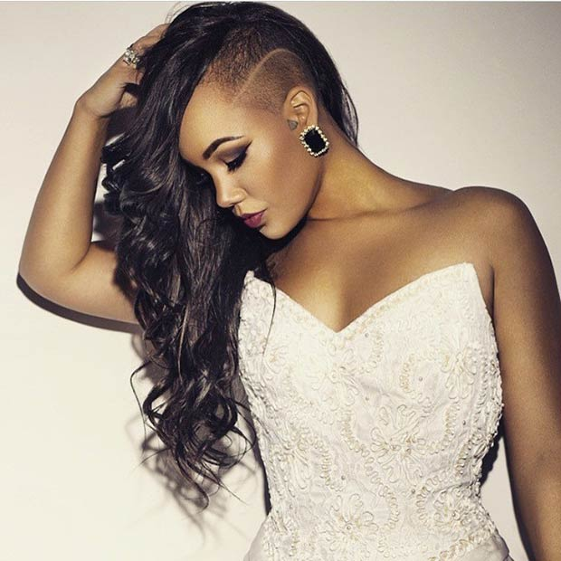 Long shaved sides hairstyles for women