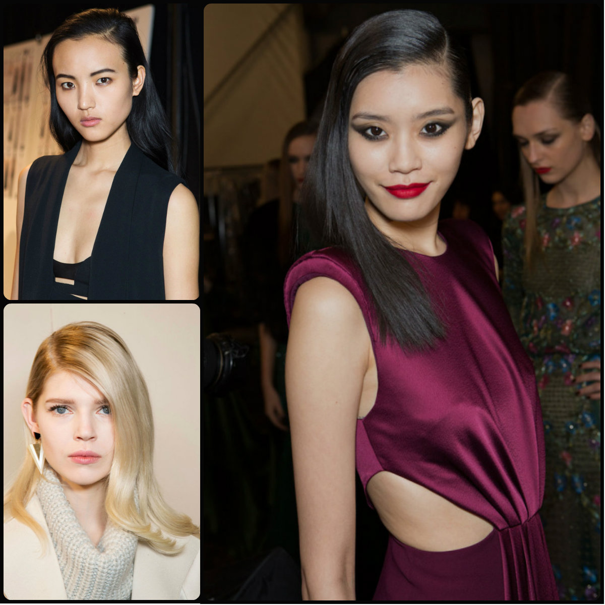 side parted hairstyles for fall 2015