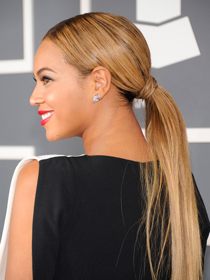 Beyonce sleek summer ponytails 2015