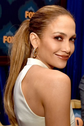 Jennifer Lopez straight summer ponytails 2015