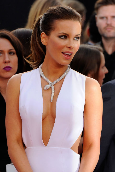 Kate Beckinsale summer ponytails 2015