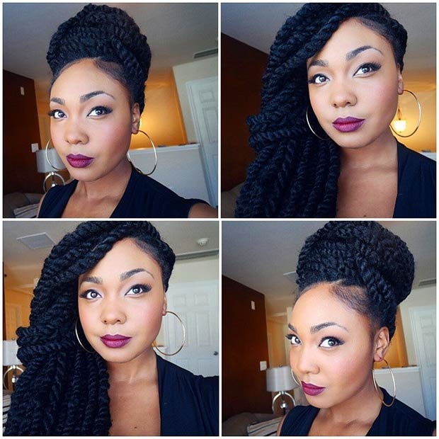 Stupendous Whimsical Twist Hairstyles For Black Women Hairstyles 2017 Hair Short Hairstyles For Black Women Fulllsitofus