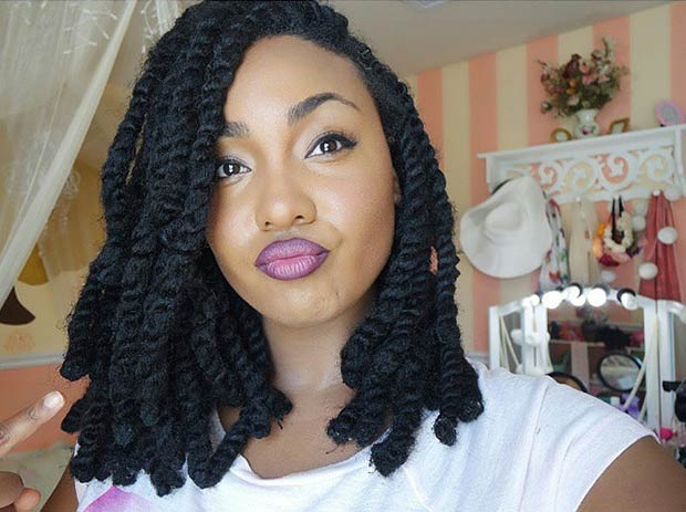 Whimsical Twist Hairstyles For Black Women
