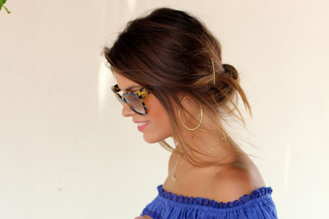 messy low bun back to school hairstyles 2015