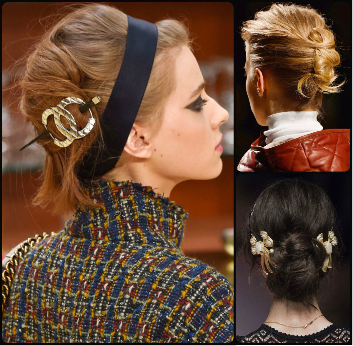 runway updo hairstyles for fall 2015 ~ long hairstyles