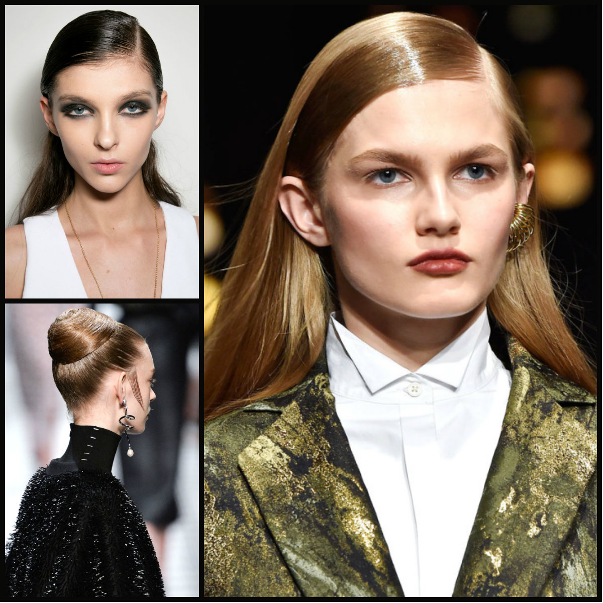 Terrific Catwalk Wet Effect Hairstyles For Fall 2015 Hairstyles 2016 Short Hairstyles Gunalazisus