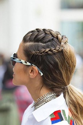French Braids to Low Ponytail Hairstyles