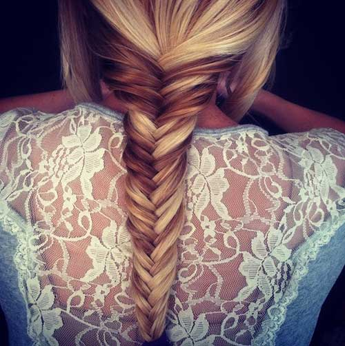Cute Fishtail French Braids Hairstyles