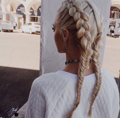 French Braids into Fishtail Hairstyles