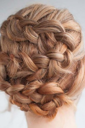 All over French Braids Hairstyles
