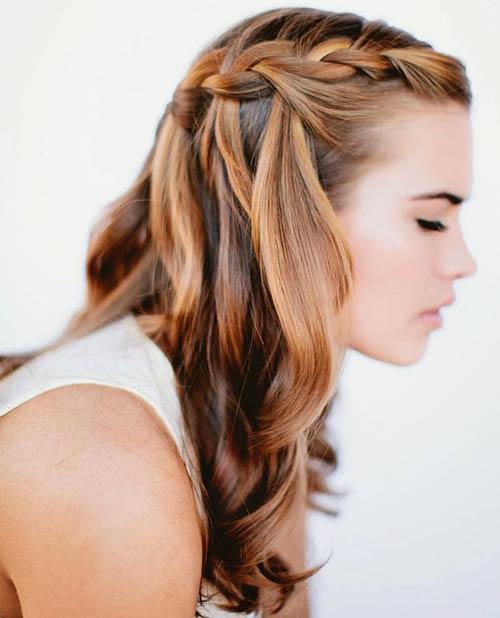 Half Updo French Braids Hairstyles