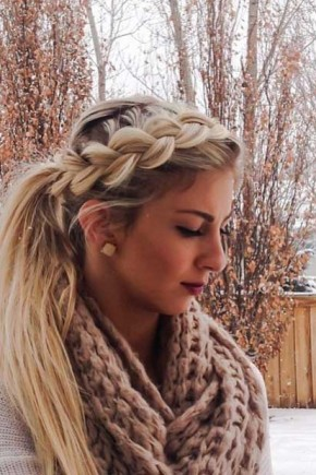 Side braid to Ponytail Hairstyles 2015