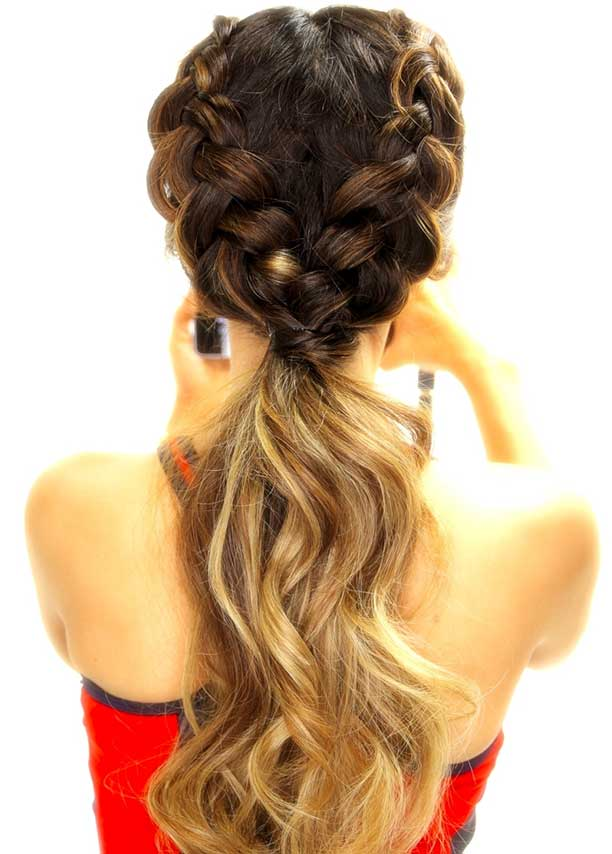 Double Dutch braids to Ponytail Hairstyles 2015