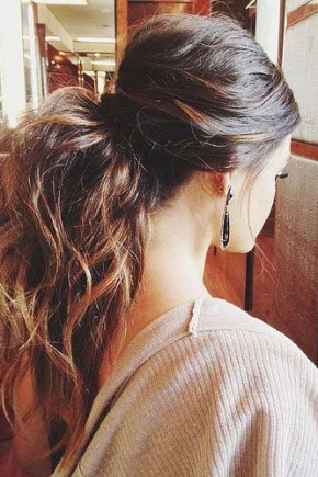 Messy Ponytail Hairstyles 2015