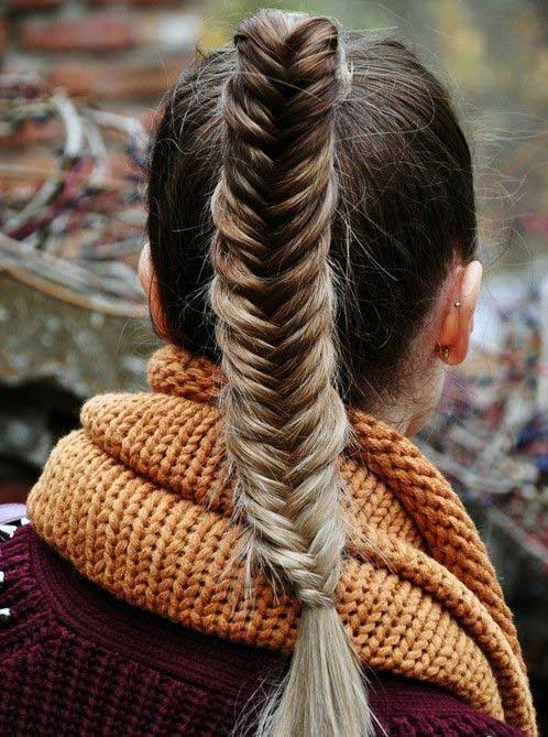 Fishtail Ponytail Hairstyles 2015