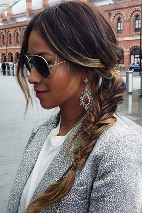Loose fishtailed Ponytail Hairstyles 2015