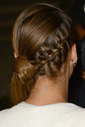 Side Braid to Low Ponytail Hairstyles 2015