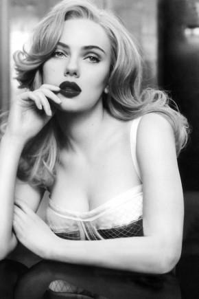 Scarlett Johansson Retro Hairstyles Fall 2015