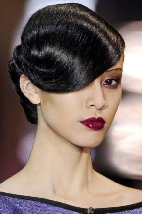 Black Retro Updo Hairstyles Fall 2015