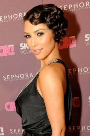 Kim Kardashian Retro Hairstyles