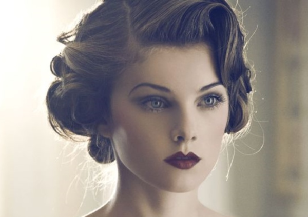 Short hair updo Retro Hairstyles Fall 2015