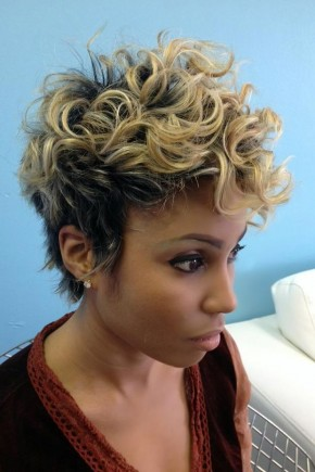 Short Curly Haircuts for Black women 2015