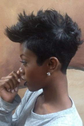 Short Mohawk Haircuts for Black women 2015