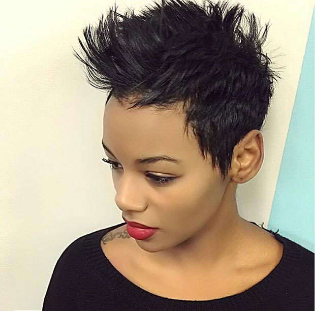 Funky Mohawk hairstyles for black women