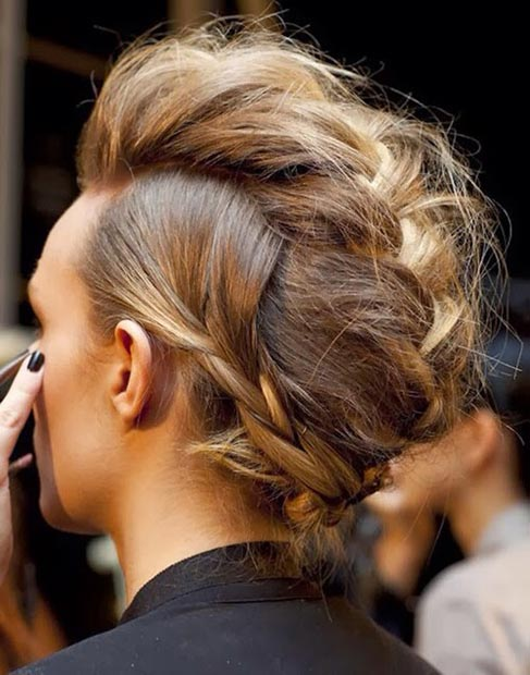 Braided Mohawk Updo Hairstyles 2015