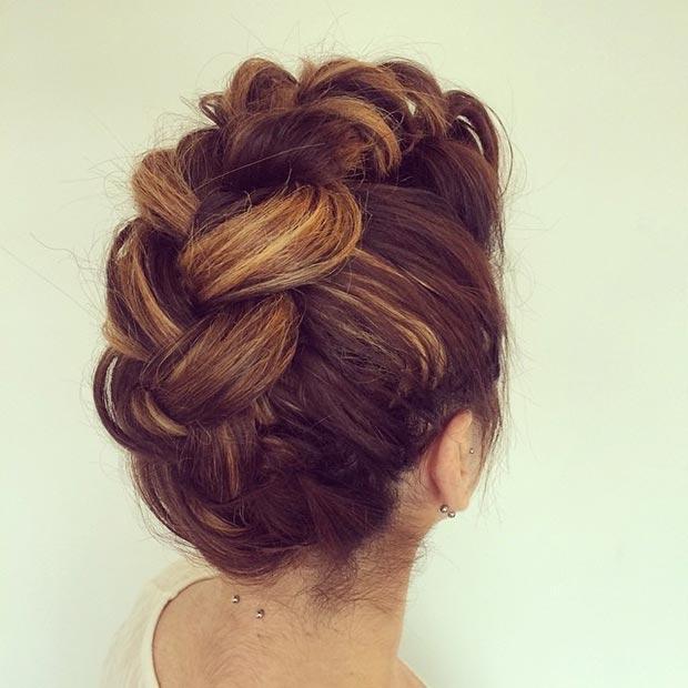 Faux Hawk Updo Hairstyles 2015