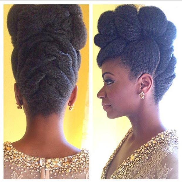 Braided Mohawk Hairstyles for black women 2015