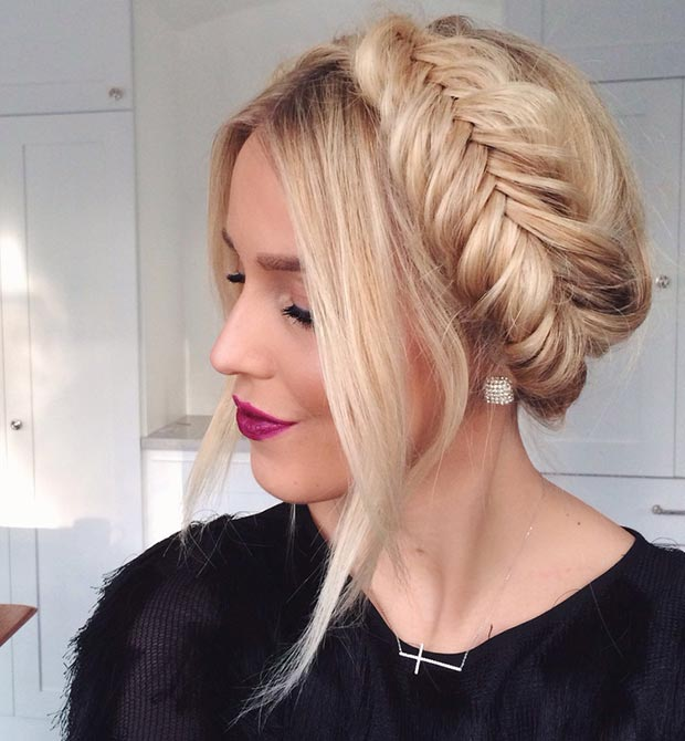 Fishtail crown braid Hairstyles 2015