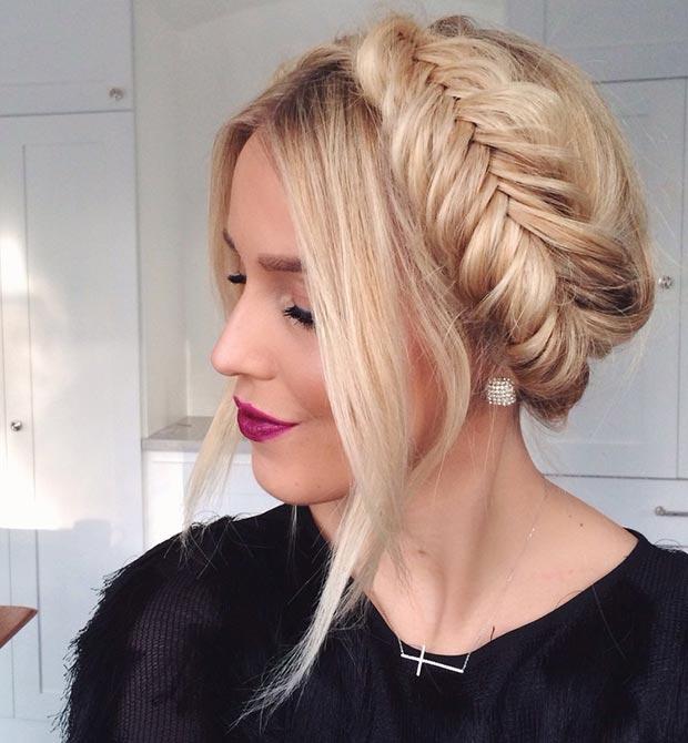 Fishtail crown braid Hairstyles 2015
